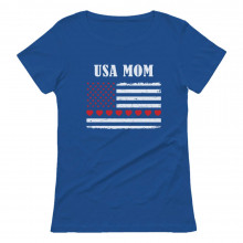 U.S.A MOM Big American Hearts Flag