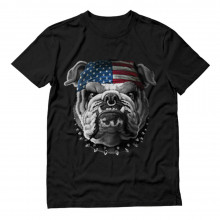 USA Flag Bulldog