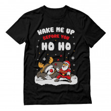 Wake Me Up Before You HO HO Santa Sloth Ugly Xmas
