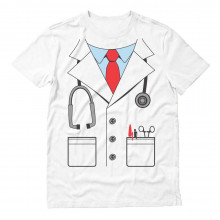 White Doctor Costume Men