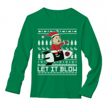Let It Blow Funny Kim Jong Un Ugly Christmas