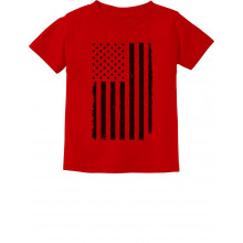 Big Black Distressed U.S Flag