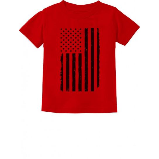 Big Black Distressed U.S Flag