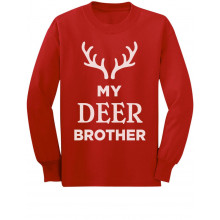 Deer Brother Reindeer Antlers Siblings Xmas