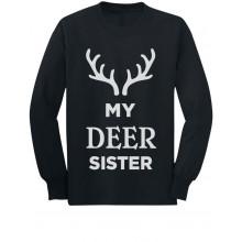 Deer Sister Reindeer Antlers Siblings Xmas