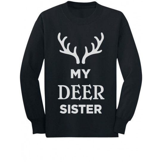 Deer Sister Reindeer Antlers Siblings Xmas
