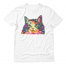 Kitty Lover Rainbow Fluffy Cat Neon Graphic Gift
