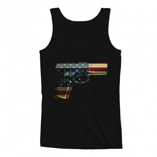 Independence Day Party - USA Pistol American Gun Flag - 4th of July
