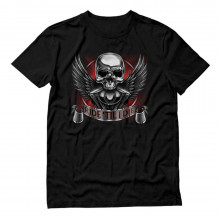 Motorcycle Riders Ride Till I Die Chrome Skull Engine