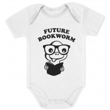 Future Bookworm - Cute Geeky Bodysuit Unisex Grow Vest