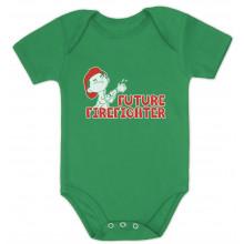 Future Firefighter Unisex Baby Grow Vest Cute