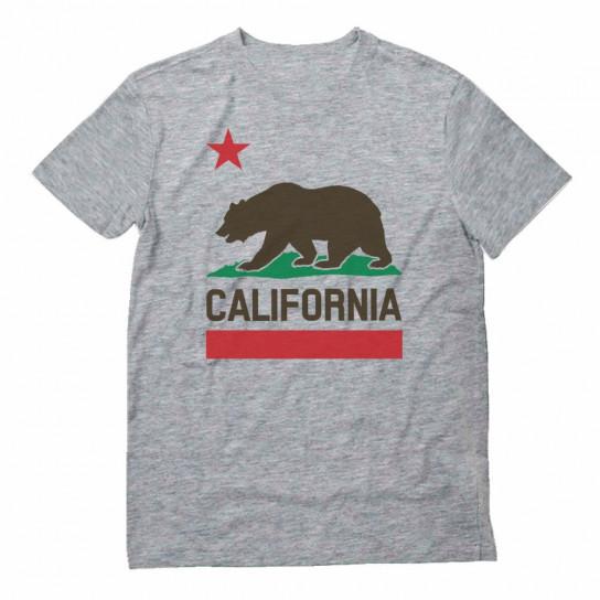 California State Flag Bear Republic Star Top Plush 3D