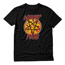 Pizza Pie Lover Pentagram Worship Slogan Cool