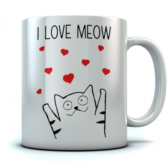 I Love Meow Mug