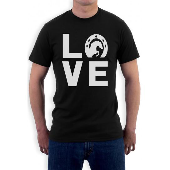 Animal Lover Rearing Horse - Love Horses - Horseshoe