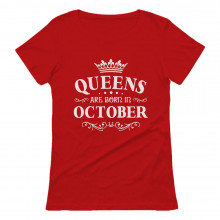 QUEENS Are Born In October Birthday Gift