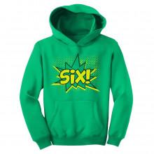SIX! Sixth Birthday - 6 Years Old Gift Idea Superhero