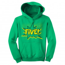 FIVE! Fifth Birthday - 5 Years Old Gift Idea Superhero