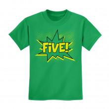 FIVE! Fifth Birthday - 5 Years Old Gift Idea Superhero