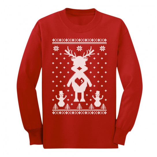 Reindeer Love Ugly Christmas Sweater Cute Xmas