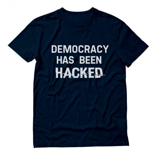 Fsociety Hacker Slogan - Democracy Has Been Hacked