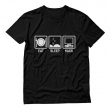 Eat Sleep Hack - Computer Programmer Gift Idea Hacker