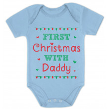 Cute Xmas Baby Grow Vest - First Christmas With Daddy
