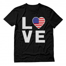 I Love America - United States Heart Flag - I Love USA