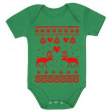 Reindeer Love Ugly Christmas Sweater - Cute Bodysuit