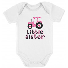 Little Sister Pink Tractor Babies