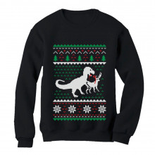 Ugly Christmas Sweater T-Rex VS Reindeer Funny Gift