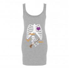 Pregnant Xray Halloween Baby Broom Witch Skeleton