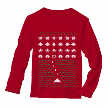 Space Geeky Ugly Christmas Sweater Invaders