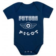 Future Pilot - Funny Bodysuit Baby Grow Vest Unisex