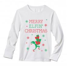 Funny Ugly Christmas Sweater - Merry Elfin Christmas
