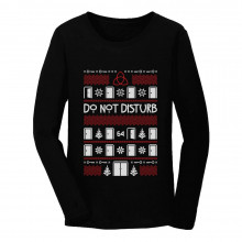 Hotel Horror Ugly Christmas Sweater Do Not Disturb