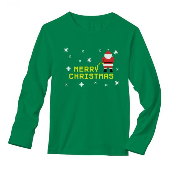 Merry Christmas Santa Pees - Ugly Christmas Party