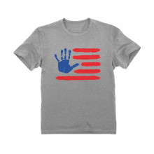 4th of July Hand Print American Flag Children