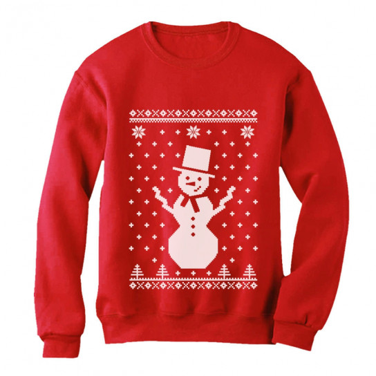Christmas Sweaters Cute.Big Snowman Ugly Christmas Sweater Cute Xmas Christmas Greenturtle