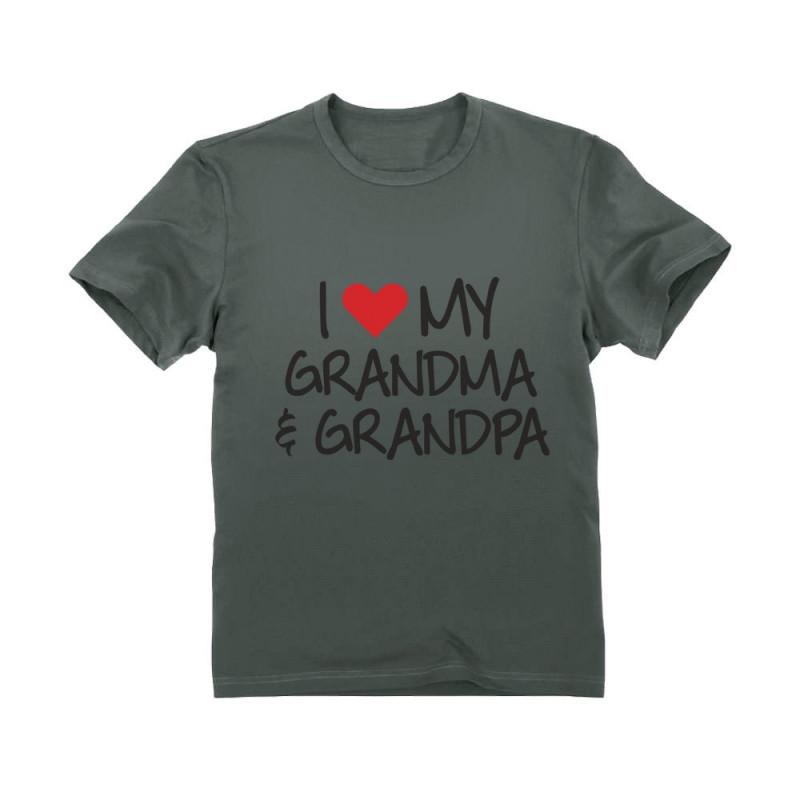 I Love My Grandpa /& Grandma Grandkid Gift Toddler//Kids Long Sleeve T-Shirt 4T Pink