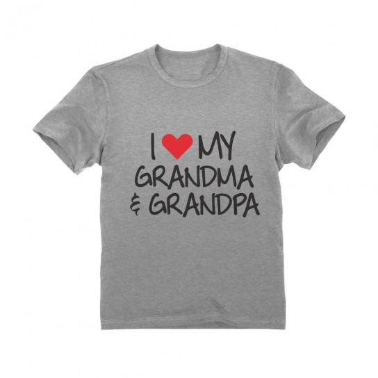 I love My Grandpa /& Grandma Grandkid Gift Toddler//Kids Girls/' Fitted T-Shirt
