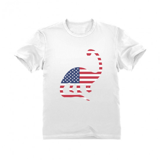 USA Dinosaur American Flag 4th of July Children