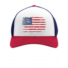 4th of July Vintage Distressed USA Flag Cap