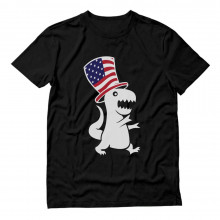 American T-Rex Dinosaur USA Flag Hat