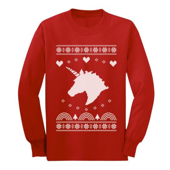 Unicorn Children's Ugly Christmas Sweatshirt