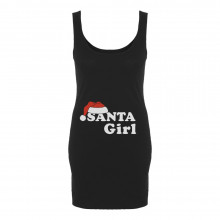 Santa Girl Christmas Baby Funny Xmas Pregnancy Gift