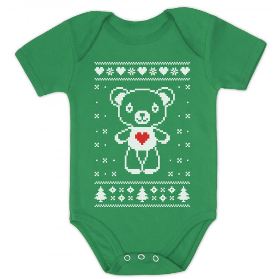 Big White Furry Bear Love - Cute Ugly Christmas Sweater