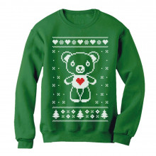 Big White Furry Bear Doll Ugly Christmas Sweater Funny