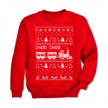 Choo Choo Train Children's Ugly Christmas Sweater Cute