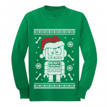 Cute Robot Santa Ugly Christmas Sweater - Funny Xmas
